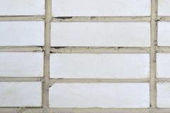 Witte bakstenen muurachtergrond Stock Foto