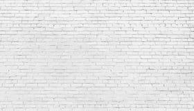 Witte bakstenen muurachtergrond, textuur van gewit metselwerk royalty-vrije stock foto's