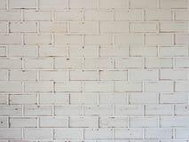 Witte bakstenen muurachtergrond, uitstekende stijl Stock Foto's