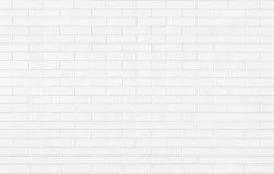 Witte bakstenen muurtextuur als achtergrond Stock Afbeeldingen
