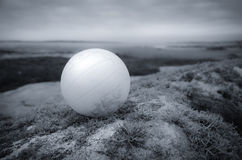 Witte bal in een landschap Stock Foto's