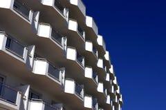 Witte balkons Stock Fotografie