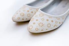 Witte balletvlakten met patroon Stock Foto