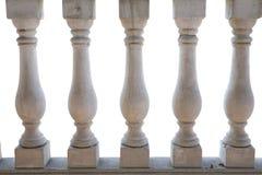 Witte balustrade Stock Afbeeldingen
