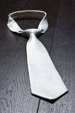 Witte band op de houten vloer Royalty-vrije Stock Foto