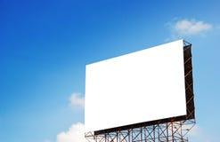 Witte banner Stock Fotografie