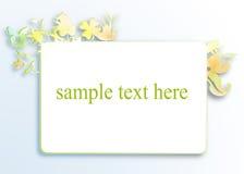Witte banner met steekproeftekst Stock Foto