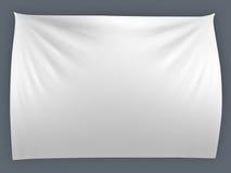 Witte banner met vouwen vector illustratie
