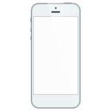 Witte bedrijfs mobiele telefoon die op witte rug wordt geïsoleerd Stock Afbeelding