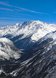 Witte berg Stock Foto's