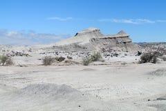 Witte berg in woestijn Stock Foto