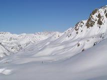 Witte bergen royalty-vrije stock afbeelding