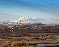 Witte bergen in de Herfst Royalty-vrije Stock Fotografie
