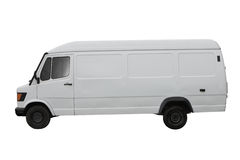 Witte bestelwagen royalty-vrije stock fotografie
