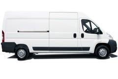 Witte bestelwagen Royalty-vrije Stock Afbeeldingen