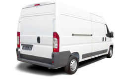 Witte bestelwagen stock afbeelding