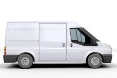 Witte bestelwagen Stock Foto