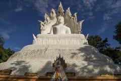 Witte Bhuddha stock afbeelding