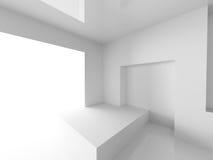 Witte Binnenlandse Achtergrond Architectuur Abstract Behang Royalty-vrije Stock Afbeelding