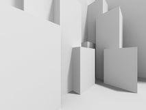 Witte Binnenlandse Achtergrond Architectuur Abstract Behang stock illustratie