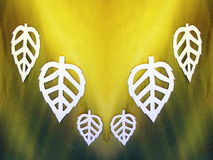Witte bladeren. Document knipsel. Stock Foto