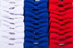 Witte, blauwe en rode vlinderdas Stock Foto's