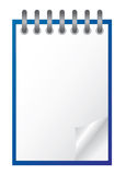 Witte blocnote Royalty-vrije Stock Foto