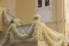 Witte bloemdecoratie Stock Foto