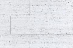Witte blokken van steenmuur, achtergrondfototextuur Stock Foto
