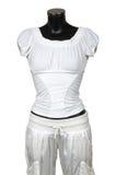 Witte blouse en broeken stock fotografie
