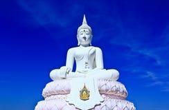 Witte Boedha in de hemel Stock Afbeeldingen
