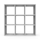Witte boekenkast Stock Afbeelding