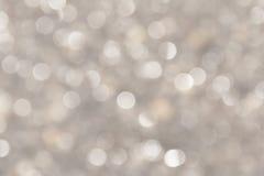 witte bokeh op vage achtergrond Royalty-vrije Stock Afbeeldingen