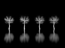 Witte bomen vector illustratie