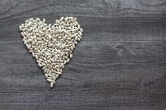 Witte bonen als symbool het gezonde eten Royalty-vrije Stock Afbeeldingen