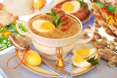 Witte borscht van Pasen royalty-vrije stock foto's