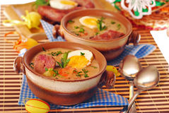 Witte borscht voor Pasen royalty-vrije stock afbeeldingen