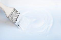 Witte borstel als achtergrond met lege lege ruimte voor tekst, exemplaar Royalty-vrije Stock Afbeeldingen