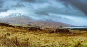 Witte bovenkant van Glenkoe, Schotland stock foto