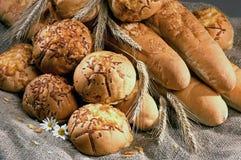 Witte broodreeks Stock Afbeeldingen