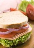Witte broodsandwich Royalty-vrije Stock Afbeelding