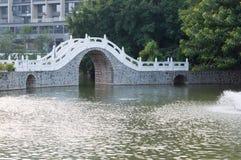 Witte brug Stock Afbeeldingen
