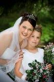 Witte Bruid Stock Foto's