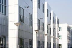 Witte bureaugebouwen Stock Foto
