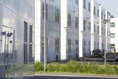 Witte bureaugebouwen Stock Afbeelding