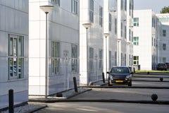Witte bureaugebouwen Royalty-vrije Stock Afbeelding