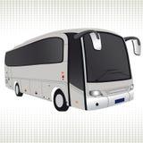 Witte bus. Stock Fotografie
