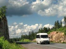 Witte bus Royalty-vrije Stock Foto's