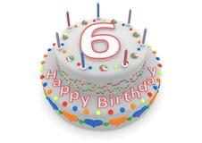 Witte cake met gelukkige verjaardag en de leeftijd stock illustratie
