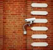 Witte camera op de muur Royalty-vrije Stock Afbeeldingen